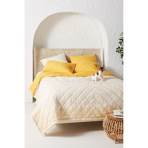 Anthropologie Reversible Auxterre Quilt King NEW